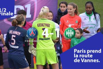 Le PSG s'impose sans coup férir face à l'ASSE et retourne en finale, oubliée depuis 2014). Crédit William Commegrain lesfeminines.fr