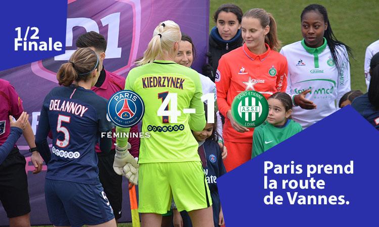 1/2 finale de la CDF – Le PSG s'impose (4-1) et retrouve la finale de la Coupe de France