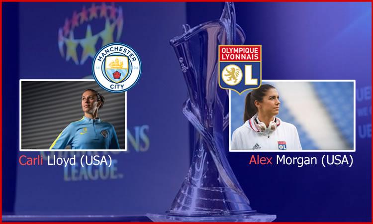 Deux légendes du football féminin, chacune dans un camp différent, venues en Europe uniquement pour gagner la Coupe d'Europe. Crédit William Commegrain lesfeminines.fr
