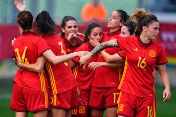 Euro 2017 prépa. Rfef.es L'équipe espagnole face à la Belgique. Crédit rfef.es. lesfeminines.fr