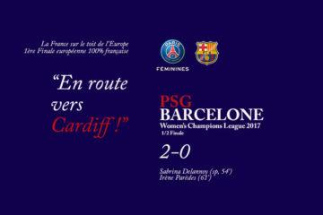 le PSG en finale de la Women Champion's league 2017. Crédit lesfeminines.fr