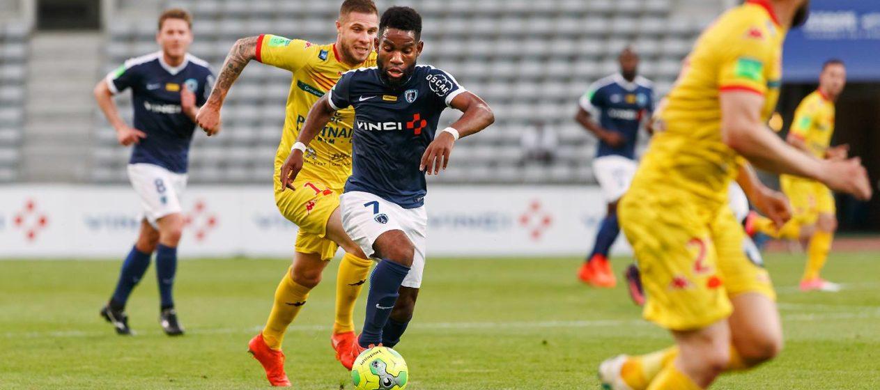 Rodrigue Bonguigui. Le feu follet parisien au match aller à Charlety. Barrage Ligue 2.