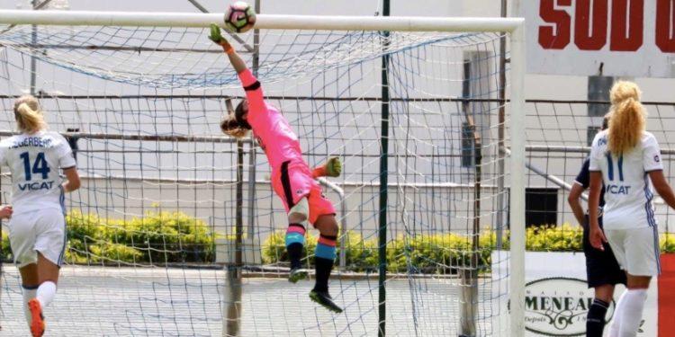 La gardienne de Bordeaux a sauvé ses filets (0-1) face à l'OL. Crédit GirondinsdeBordeaux. Lesfeminines.fr