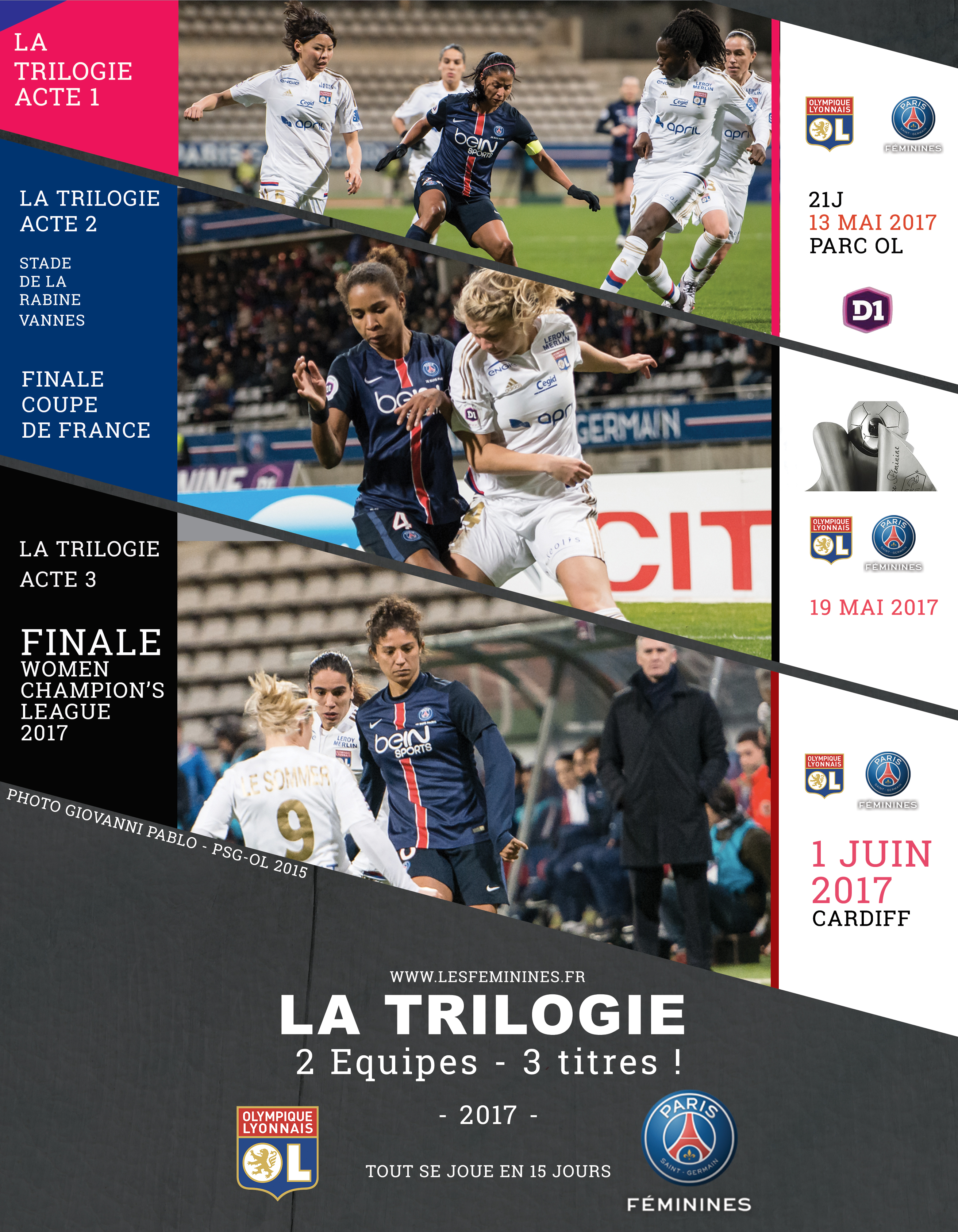 la trilogie de 2017 - TRois OL-PSG en 15 jours