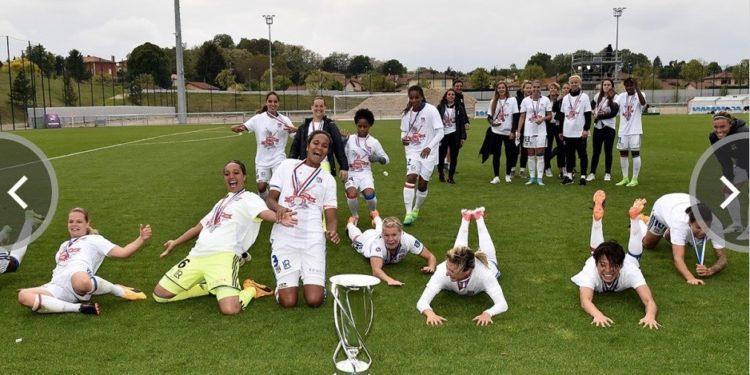Superbe 11è titre de Championnes de France consécutif pour l'Olympique Lyonnais. . crédit OL. Lesfeminines.fr