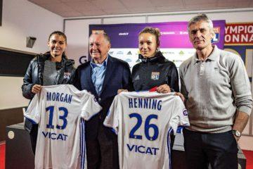 20 minutes. Olympique Lyonnais. Arrivée au mercato de Janvier de Morgan et d'Henning. Lesfeminines.fr