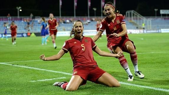 La jeune équipe espagnole. Crédit UEFA. Lesfeminines.fr