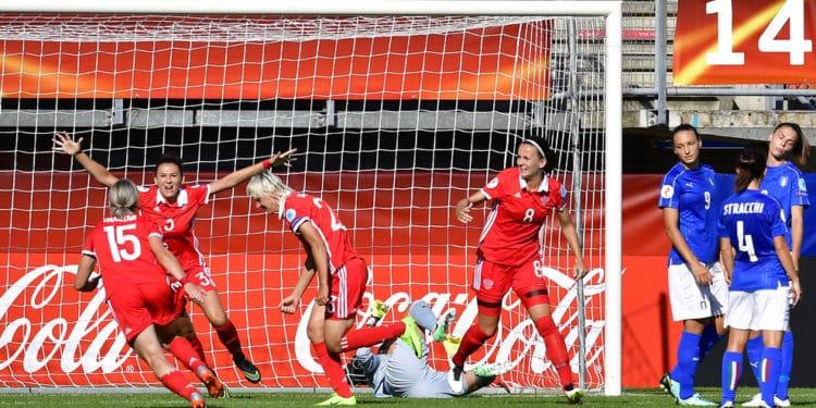 Le second but russe face à l'Italie. Crédit UEFA. Lesfeminines.fr