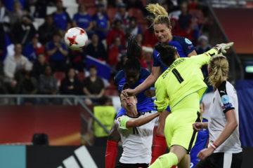 La volonté et la détermination d'AMandine Henry. Crédit UEFA. Lesfeminines.fr