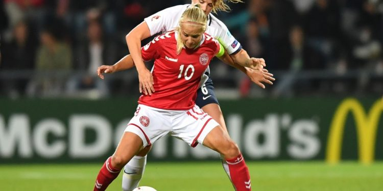 La talent et la Fougue Danoise avec pernille harder. Crédit UEFA. Lesfeminines.fr