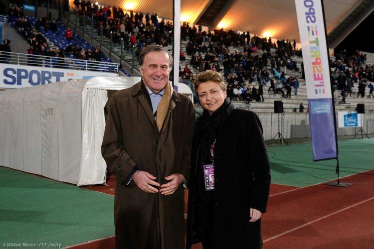 Pierre Ferracci et Marie Christine Terroni. Paris Fc. Crédit PFC
