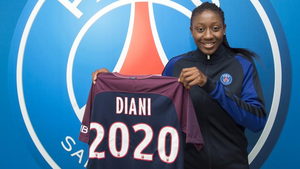 Kadidiatou Diani signe au PSG. Le Paris FC féminines montre une nouvelle stratégie. Crédit PSG. Lesfeminines.fr