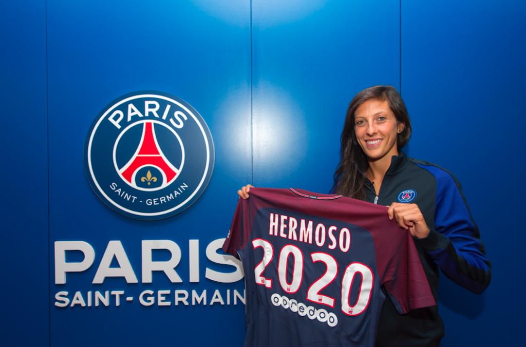 Jennifer Hermoso signe pour 3 ans PSG féminines. Crédit PSG. Lesfeminines.fr