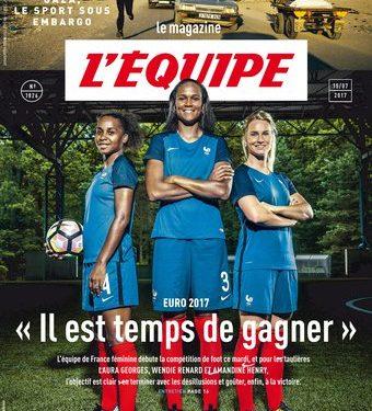La Une du magazine de l'Equipe. Crédit lesfeminines.fr