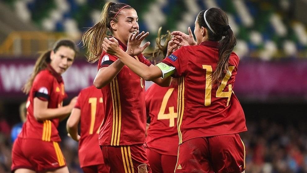 Patricia Guijarro envoie l'Espagne au Paradis de l'Euro 2017. Titrée pour la seconde fois. Crédit UEFA. lesfeminines.fr