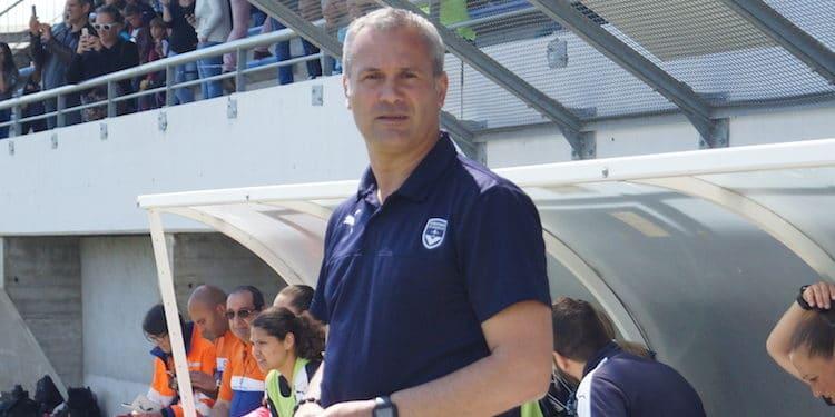 Jérôme Dauba. Coach des Girondins de Bordeaux. Crédit Actufoot. Lesfeminines.fr