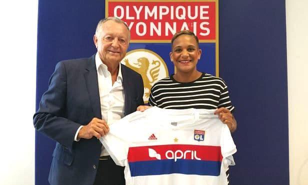 Van de Sanden signe pour trois ans à l'OL. Crédit OL. Lesfeminines.fr