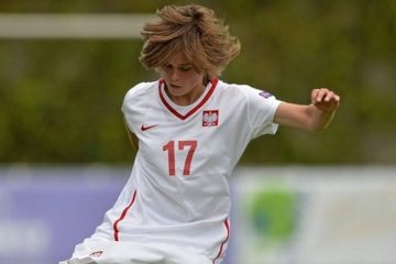 Ewa Pajor, jeune polonaise, excellente dans les tournois de jeune. Partie de former à Wolfsburg. Crédit UEFA. Lesfeminines.fr