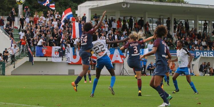 Le but de Tandia Siga face au PSG. Crédit : Patrick Vielcanet. Lesfeminines.fr