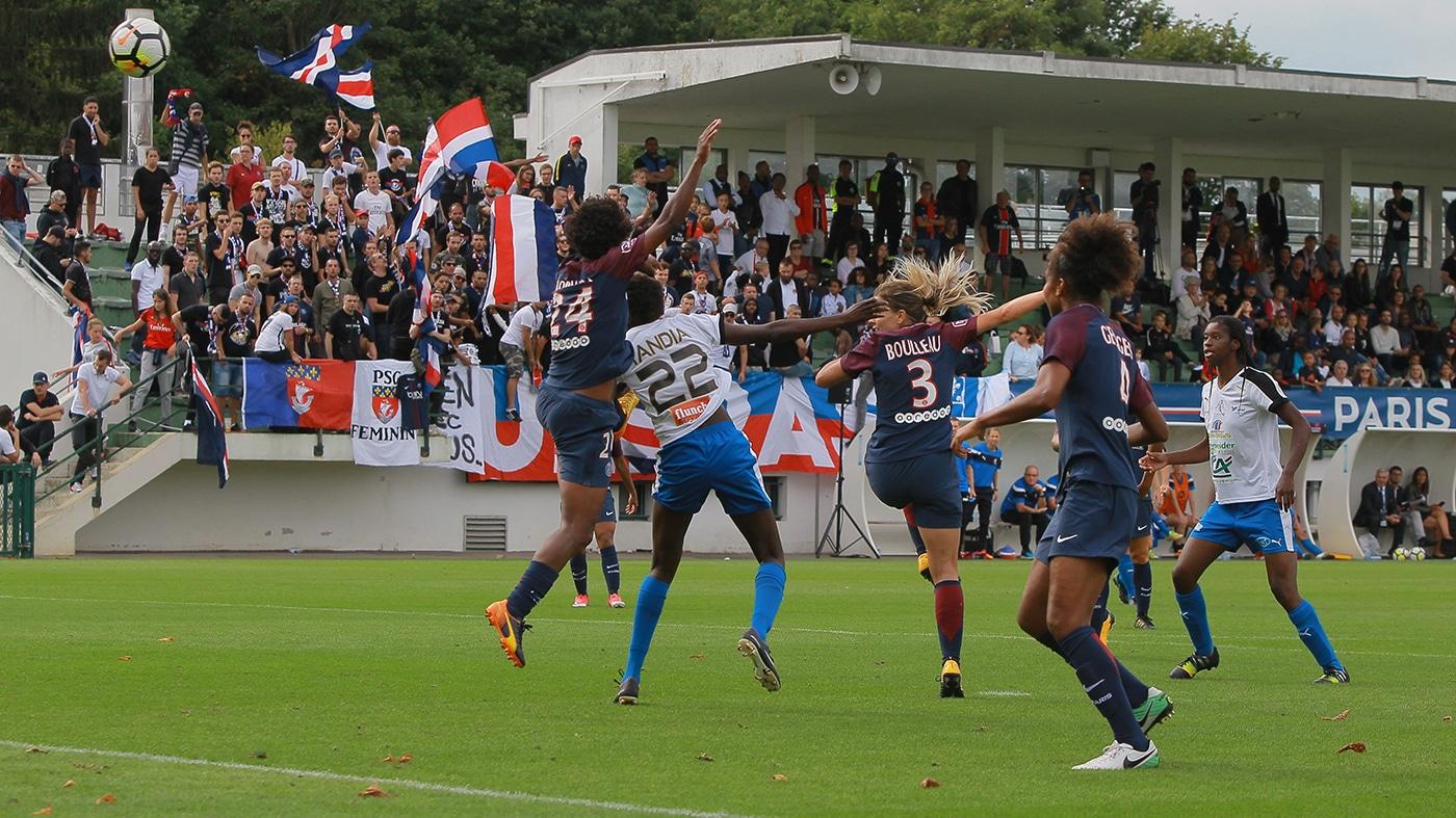 D1F – Soyaux Charente – D1F – ITW avec Tandia Siga, sur la performance du petit Soyaux face au grand PSG (1-1)