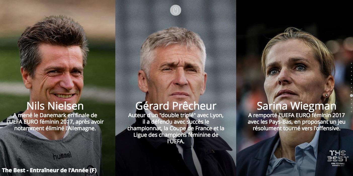 """The Best les """" meilleurs coaches féminins. Les feminines.fr"""