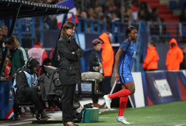 Kadidiatou Diani, une des seules joueuses de l'ex-juvisy à être passée au PSG. crédit fff. lesfeminines.fr