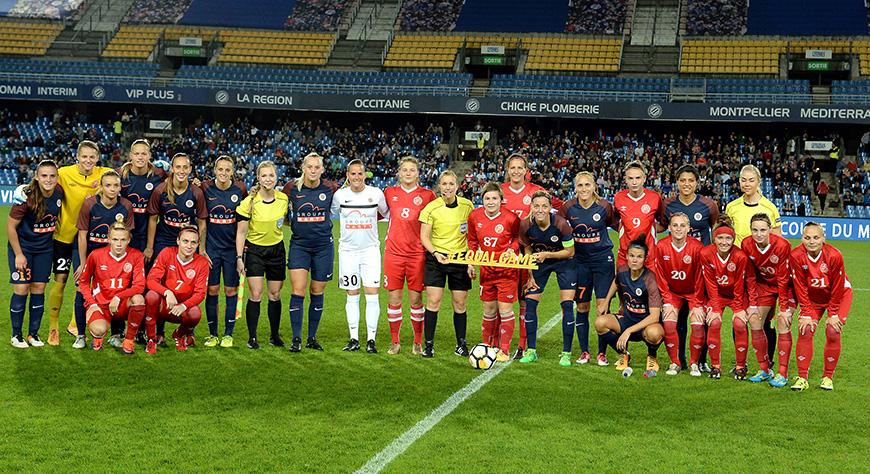 FOOTBALL / FEMININE LIGUE DES CHAMPIONS MHSC / ZVEZDA