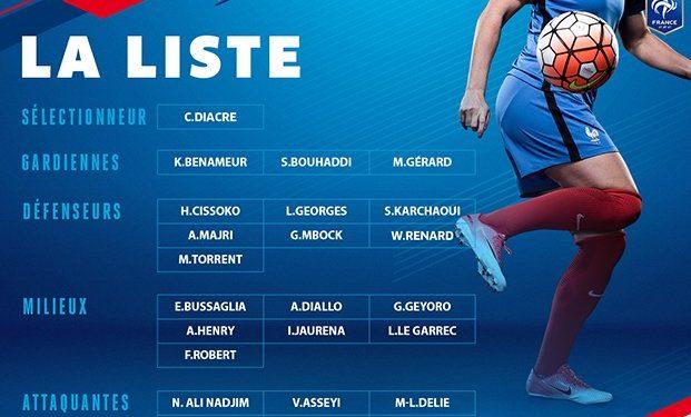 La 3e sélection de Corinne Diacre. Crédit fff. Lesfeminines.fr