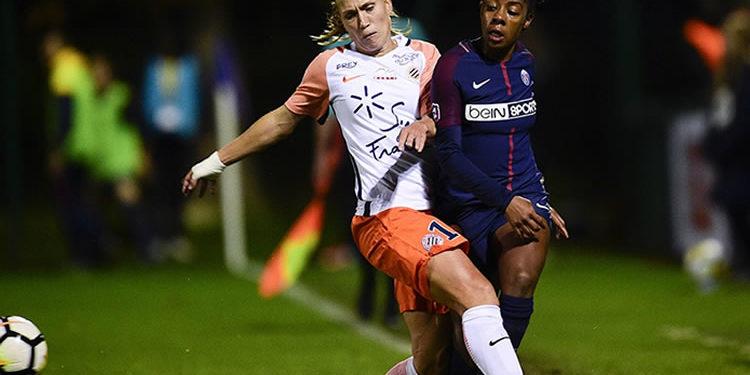 Janice Cayman, internationale belge joueuse de Montpellier. Crédit Mhsc. Lesfeminines.fr
