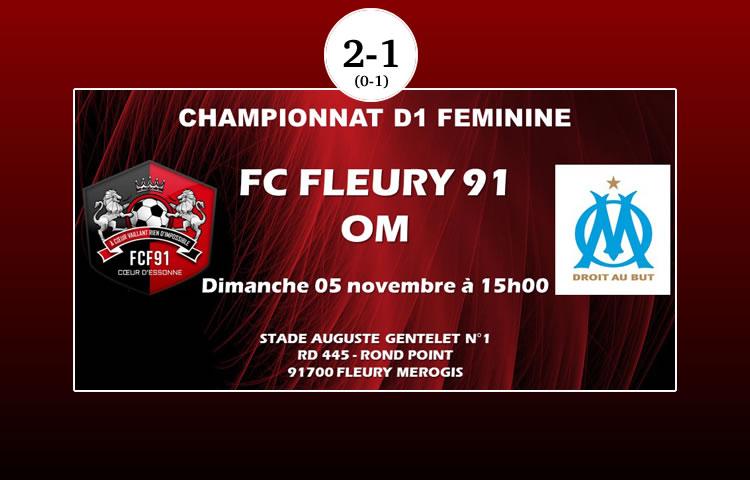 D1F – FC Fleury (2-1) Olympique de Marseille : «Fleury sort la tête de l'eau et pousse l'OM à la dernière place»