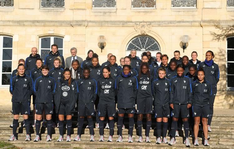 Equipe de France Bordeaux. Crédit. fff.fr Lesfeminines.fr