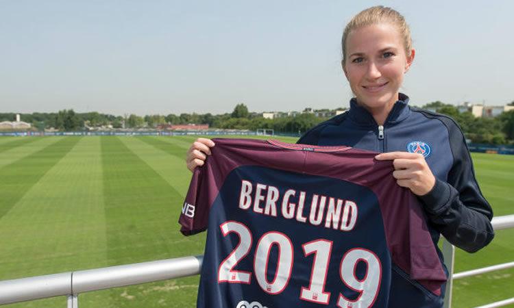 Emma Berglund, joueuse du PSG. source : PSG.fr Lesfeminines.fr