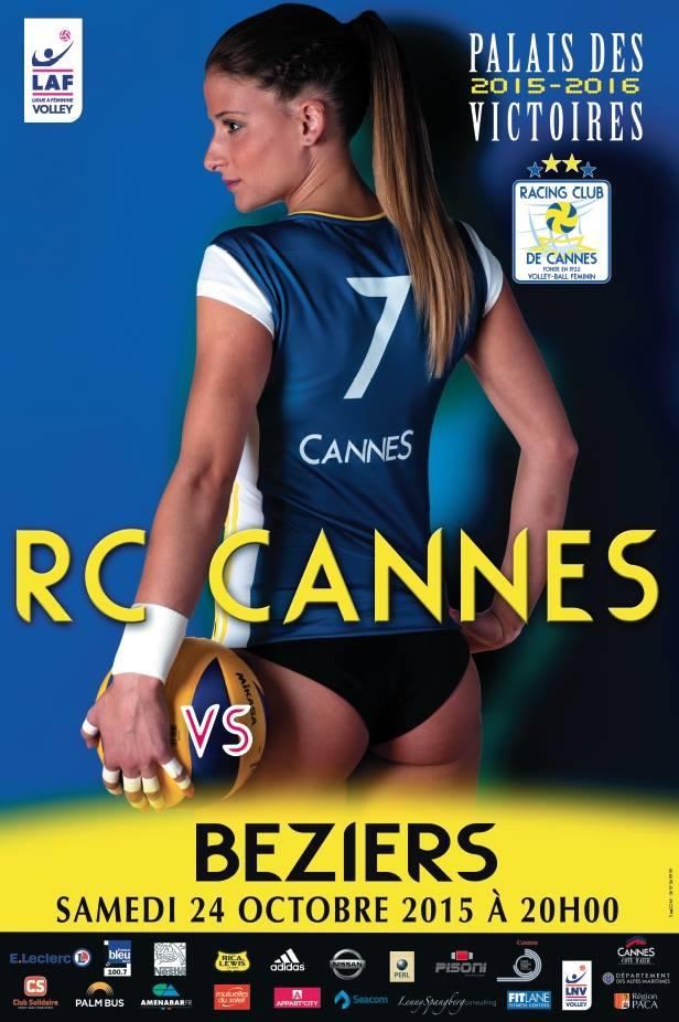 L'affiche de Victoria Ravva faite pour son club le RC Cannes. Lesfeminines.fr