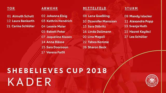 LA sélection allemande pour la ShebelievesCup. Crédit Dfb. Lesfeminines.fr