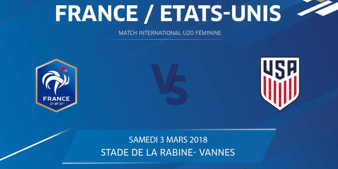 Mondial U20 – La France reçoit les USA à Vannes en préparation du Mondial d'Août 2018