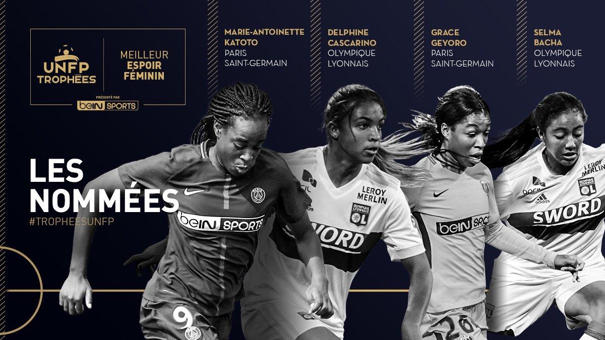 les quatre espoirs féminins de la D1F féminine. UNFP. les féminines.fr