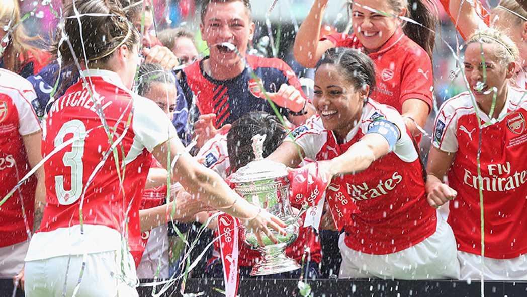 Arsenal Ladies, vainqueur en 2016 de la SSE Women FA Cup. Credit FA. Lesfeminines.fr