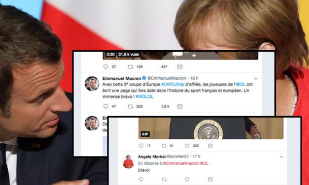 WCL – Le sport féminin n'est plus neutre en politique, le tweet présidentiel et la réponse d'Angéla Merkel ..