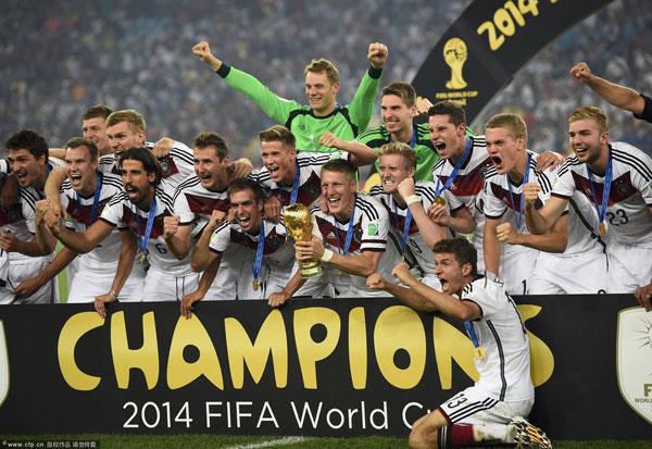 L'Allemagne, championne du monde. Une nation qui gagne tout en 2013 et 2014.