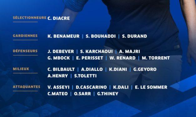EDF A – La sélection de Corinne Diacre «Si on ne prend pas de buts, on ne perd pas».